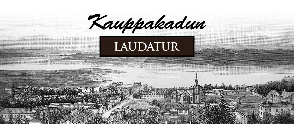 Jyväskylän keskustaa kuvaava piirros julkaistiin Kansanvalistusseuran kalenterissa vuonna 1887.